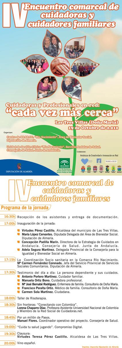 IV ENCUENTRO COMARCAL DE CUIDADORAS/ES FAMILIARES.